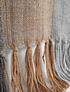 Piecera king andino rayas grises