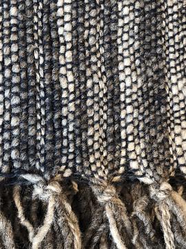 Piecera de oveja gris y alpaca azul marino