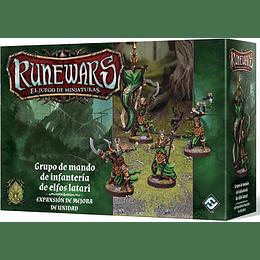 RuneWars: Grupo de mando de infantería Elfos Latari (Expansión de mejora de unidad)
