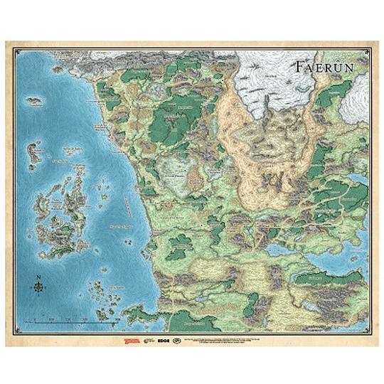 Dungeons & Dragons - Calabozos y Dragones: Mapa de Faerûn