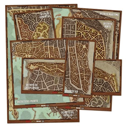 Dungeons & Dragons - Calabozos y Dragones: Set de mapas de de los distritos de Waterdeep