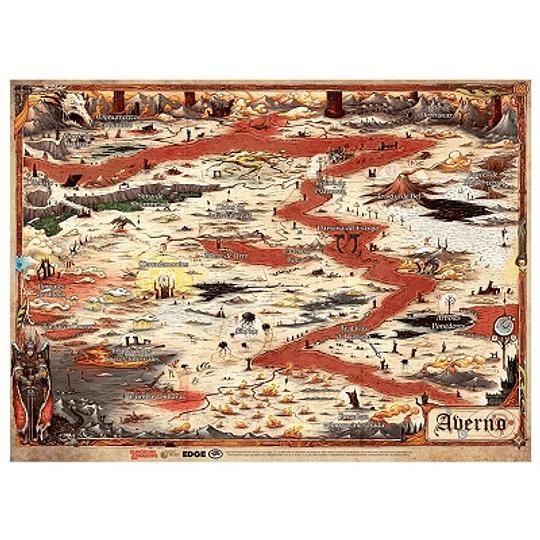 Dungeons & Dragons - Calabozos y Dragones: Mapa de Averno