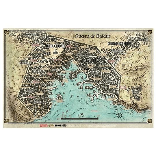 Dungeons & Dragons - Calabozos y Dragones: Mapa de Puerta de Baldur