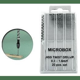 Set de 20 minibrocas de precisión 0.3-1.6MM