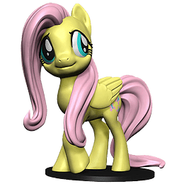 My Little Pony: Fluttershy - Deep Cuts Unpainted Minis  (Para pintar)