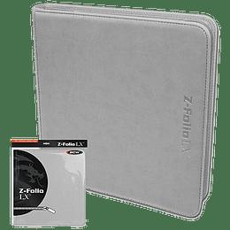 Carpeta BCW - Z-Folio 12 Bolsillos LX de Cuero - White