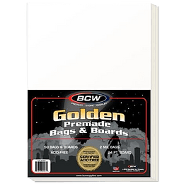 Comic Bag - Premade Golden and Board (x50)