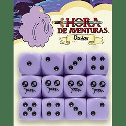 Dados Hora de Aventuras: Princesa Bultos (12 dados de 6 lados)