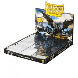 Hojas Dragon Shield Premium 18 bolsillos (x50)