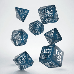 Set de Dados Call of Cthulhu (Abyssal & white)