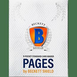 Hojas Becket Shield 9 bolsillos (x100)