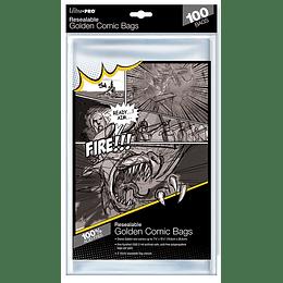 Bolsas para Comics - Resealable Golden Comic Bag (x100)