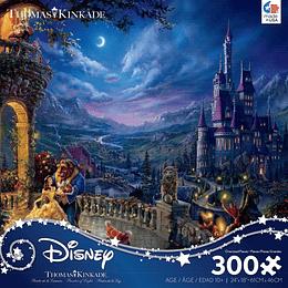 Puzzle: Oversized Thomas Kinkade Disney The Beauty and the Beast (300 piezas)