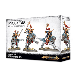 Stormcast Eternals: Evocators on Celestial Dracolines - Evocadores en Dracoliano Celestial