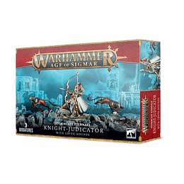 Stormcast Eternals: Knight-Judicator with Gryph-hounds - Caballero Ajusticiador con Grifomastines