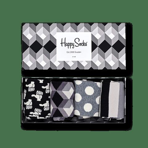 BLACK AND WHITE GIFT BOX X 4