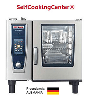 Horno Rational a Gas 6 bandejas GN 1/1 serie SCC061G