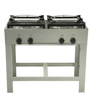 2 platos doble quemador Tipo Wok 430x430 mm.