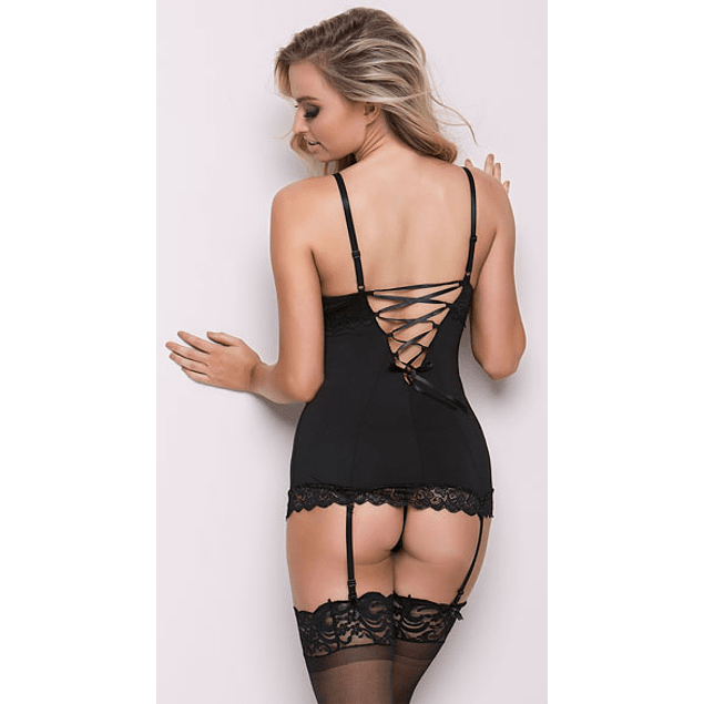 Set Chemise Hollywood con Portaligas y Calzón