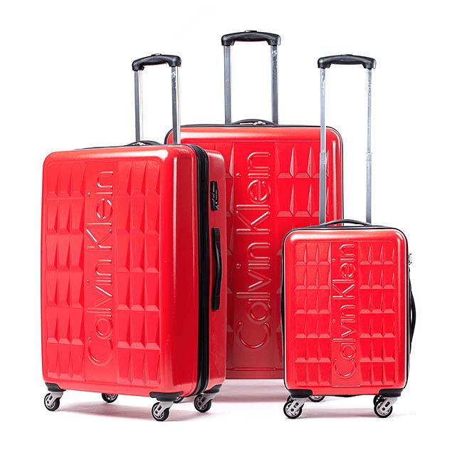 Set Maleta Calvin Klein / Cornell Rojo / 3 Piezas