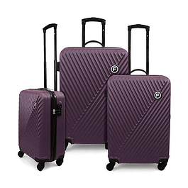 Set Maleta F / Limit Morado / 3 Piezas