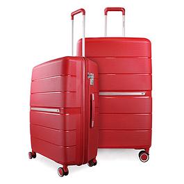 Pack Maletas Xpos SwissBag M+L Rojo