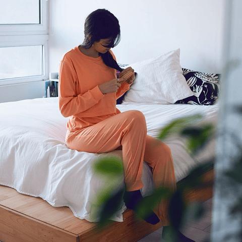 Pijama de lactancia Sofía (damasco)