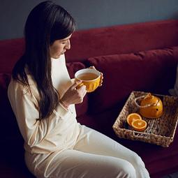 Pijama de lactancia Sofía (amarillo)