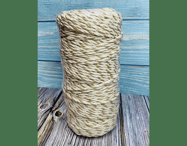 Algodón - Yute Torcido 4 mm 1 Kg.