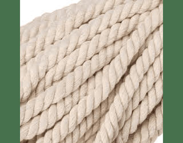 Cuerda 6 mm torcido crudo por metro