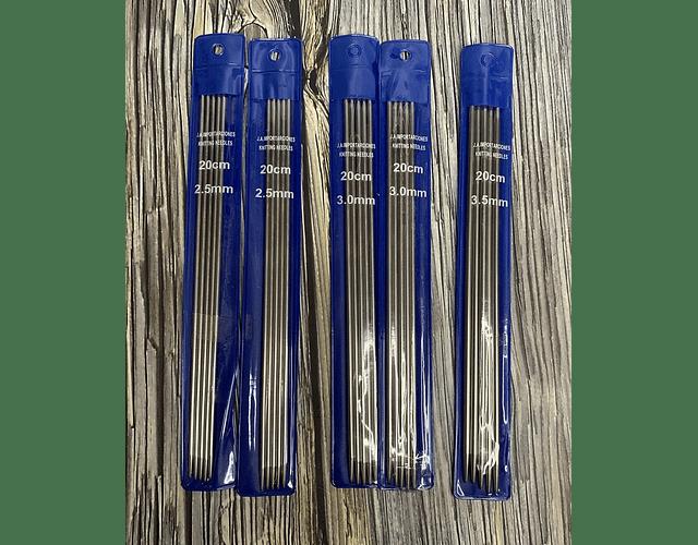 Set palillos cortos 20 cm distintos grosores