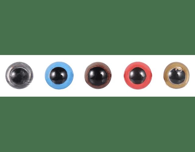 Ojos  colores 10 mm