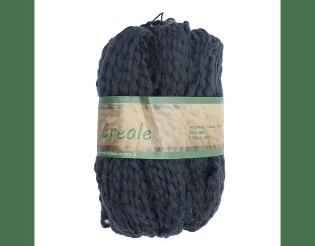 Creole 100% algodón 100 grs. Negro