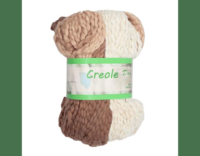 Creole 100% algodón 100 grs. Café beige crudo N° 4