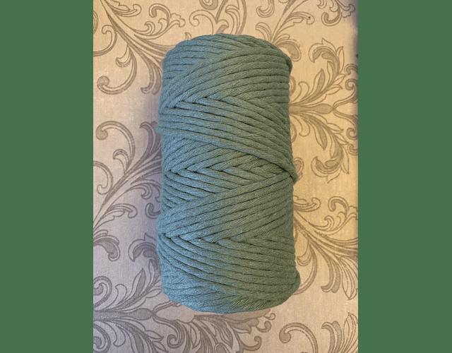 Algodón peinado color verde 3mm de 500 grs