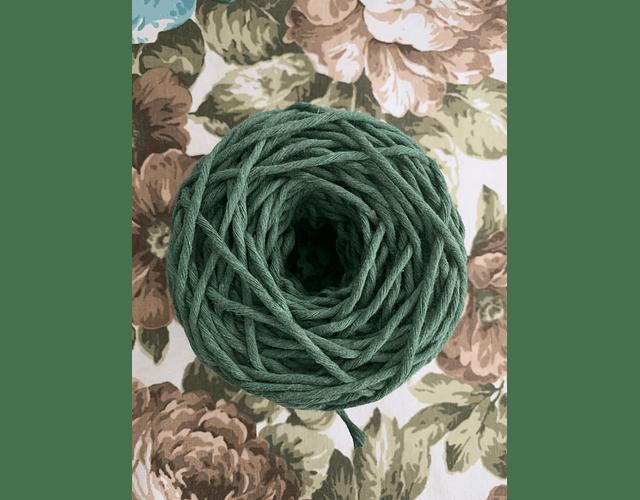 Ovillo Polycotton 3 mm Color verde