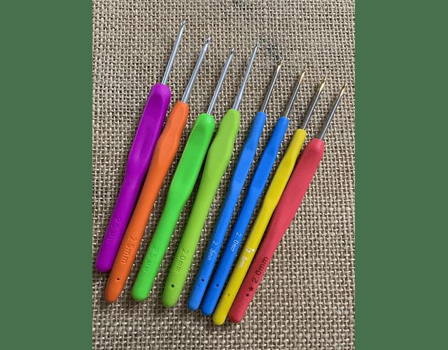 Crochet mango de silicona distintos grosores