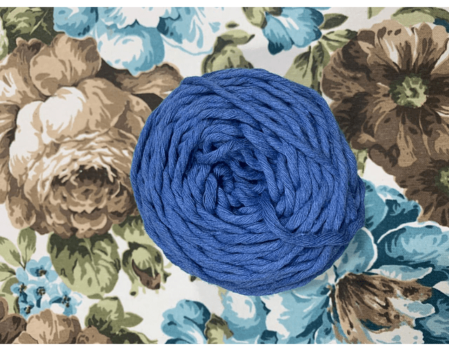 Ovillo Polycotton 3 mm Color Azul