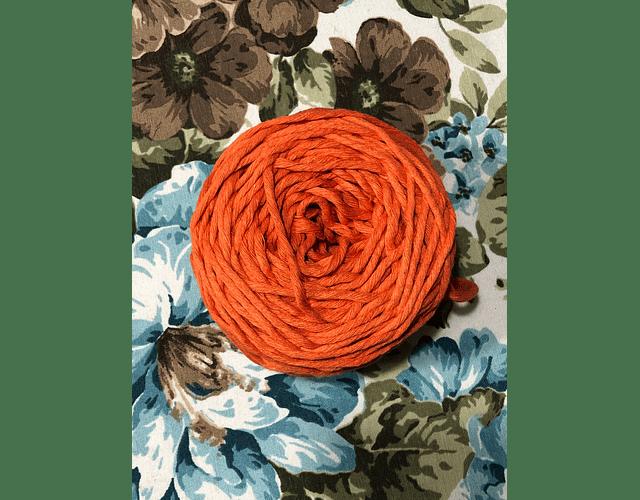 Ovillo Polycotton 3 mm Color Naranjo