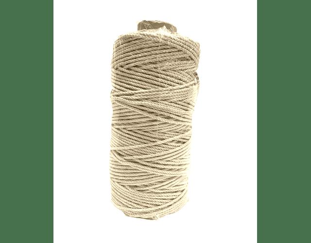 Algodón Torcido Crudo  4 mm