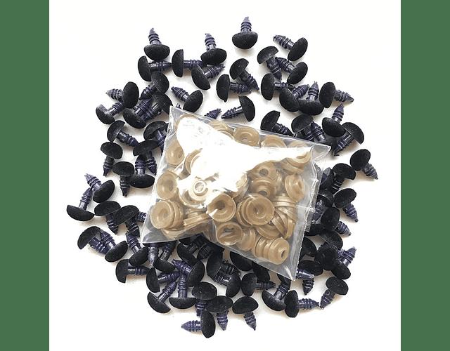 Nariz terciopelo negro 9 x 11 mm