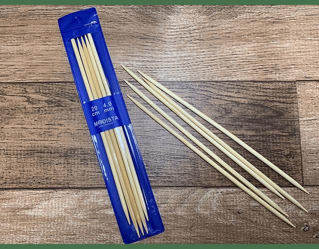 Set 5 Palillos Bambu 20 cm largo de 4 mm