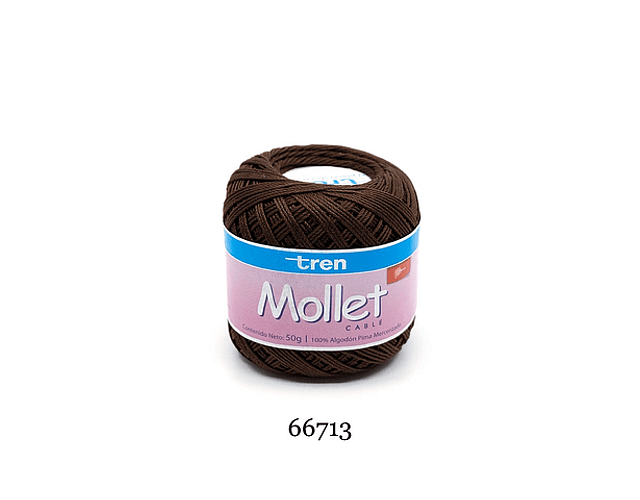 Mollet Cable 50 grs Color 6713 Café Mercerizado