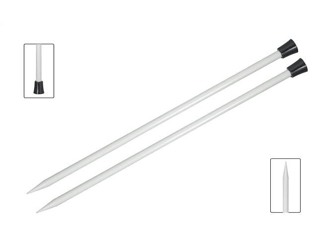 Palillos 35 cm Aluminio Knit Pro 2 y 3 mm