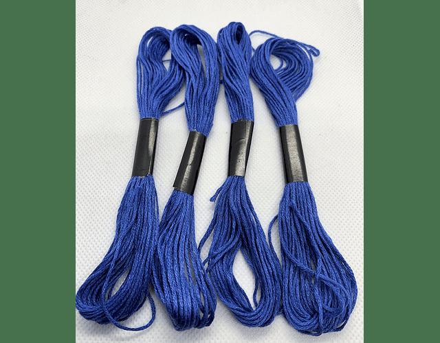 Hilo Bordar Madejita Azul 4