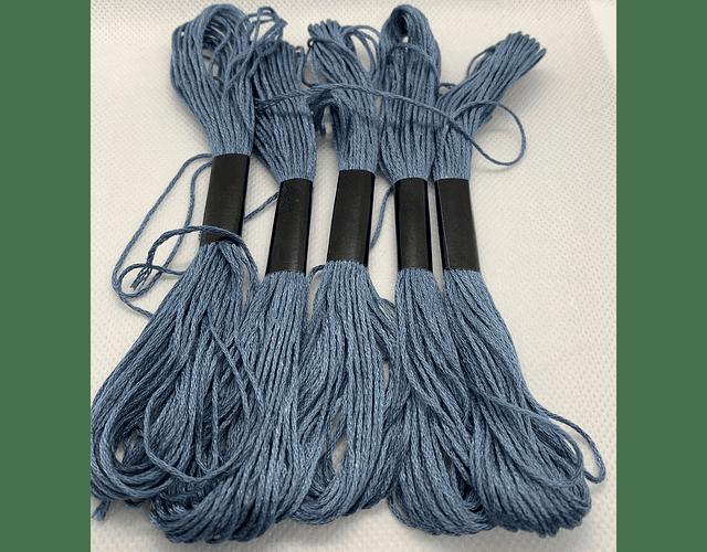 Hilo Bordar Madejita Azul 5