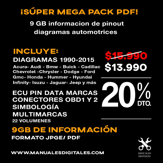 Super Pack Pinot y Diagramas automotrices ( 1990 - 2015 )