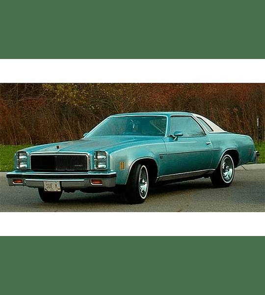 Manual de Taller Chevrolet Chevelle, Monte Carlo, Nova, Camaro, Corvette ( 1977 - 1980 ) Inglés
