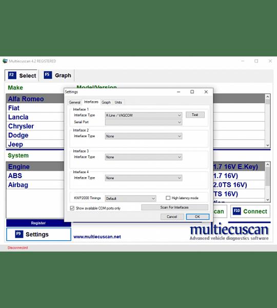 MultiScan 4.6R1 2020 Multilenguaje