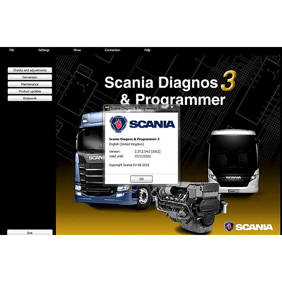 Scania Diagnos Programmer SDP3 2.44.1 + 2.44.3 ( 2020 ) Multilenguaje